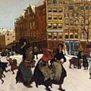 Winter In Amsterdam Print by Georg Hendrik Breitner