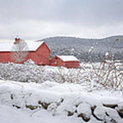 Winter In Connecticut Print by Bill Wakeley