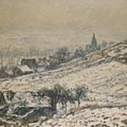 Winter In Giverny Print by Claude Monet