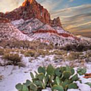 Winter In Zion National Park Utah Print by Utah Images