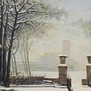 Winter Landscape Print by Alessandro Guardassoni