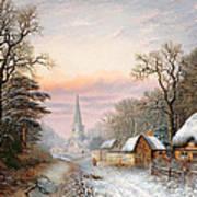 Winter Landscape Print by Charles Leaver