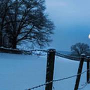 Winter Moon Print by Bill Wakeley