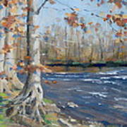 Winter On The Little Harpeth Print by Sandra Harris