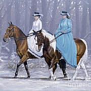 Winter Ride Print by John Silver