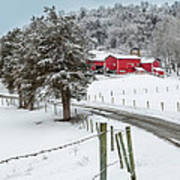 Winter Road Square Print by Bill  Wakeley