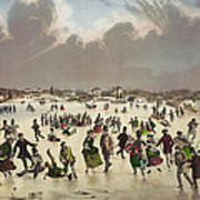 Winter Scene Circa 1859 Print by Aged Pixel