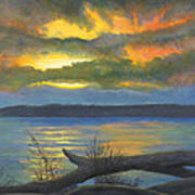 Winter Solstice At The Confluence Of The Mississippi And The Missouri Rivers Print by Garry McMichael
