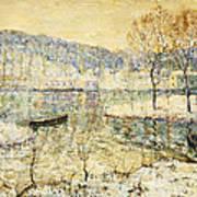 Winter Stream Print by Ernest Lawson