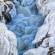 Winter Sunrise Great Falls Print by Bob Orsillo