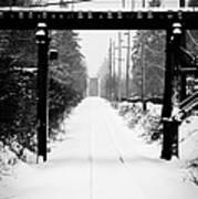Winter Tracks Print by Aaron Lee VonBerg