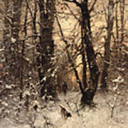 Winter Twilight Print by Ludwig Munthe