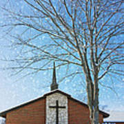 Winter Worship Print by Bill Tiepelman