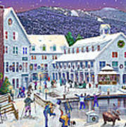 Wintertime At Waterville Valley New Hampshire Print by Nancy Griswold
