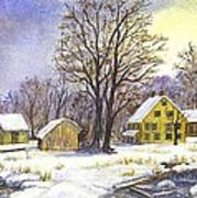 Wintertime In The Country Print by Carol Wisniewski