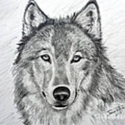 Wolf Print by Julie Brugh Riffey