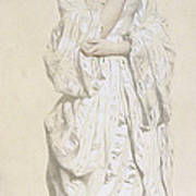 Woman In A Dressing Gown Print by French School