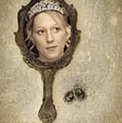 Woman In Mirror Print by Amanda Elwell