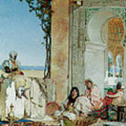 Women Of A Harem In Morocco Print by Jean Joseph Benjamin Constant
