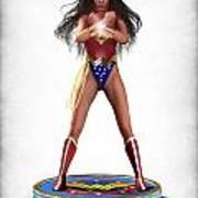 Wonder Woman V2 Print by Frederico Borges