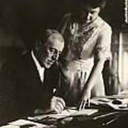 Woodrow And Edith Wilson Print by Georgia Fowler