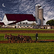 Working The Fields Print by Susan Candelario
