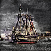 World's Oldest Commissioned Warship Afloat - Uss Constitution Print by Ludmila Nayvelt