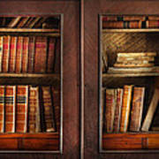 Writer - Books - The Book Cabinet  Print by Mike Savad