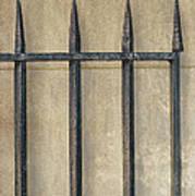 Wrought Iron Gate Print by Brenda Bryant