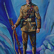 Ww 1 Soldier Print by Derrick Higgins