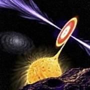 X-ray Binary System, Artwork Print by Science Photo Library