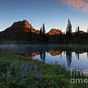 Yakima Peak Sunrise Print by Mike  Dawson