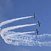 Yaks Aerobatics Team Print by Jane Rix