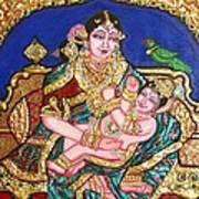 Yashoda Holding Gopala Print by Jayashree
