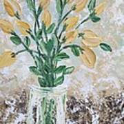 Yellow Bouquet Print by Molly Roberts