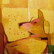 Yellow Dog Print by Lutz Baar