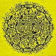Yellow Oreo Print by Rob Hans