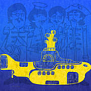 Yellow Submarine Print by Andee Design
