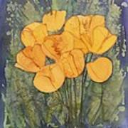 Yellow Tulips Print by Carolyn Doe