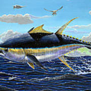 Yellowfin Crash Off0081 Print by Carey Chen