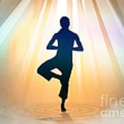 Yoga Balance Print by Bedros Awak