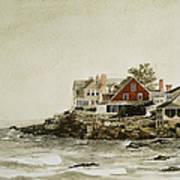 York Beach Print by Monte Toon