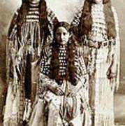 Young Kiowa Belles 1898 Print by Unknown