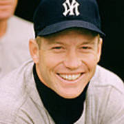 Mickey Mantle Smile Print by Retro Images Archive