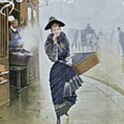 Young Parisian Hatmaker Print by Jean Beraud