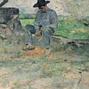 Young Routy At Celeyran Print by Henri de Toulouse-Lautrec