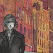 Z And The City 2 Print by Carolyn Doe