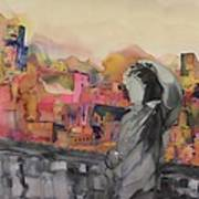 Z And The City Print by Carolyn Doe