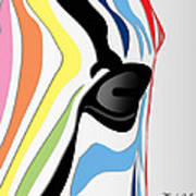 Zebra 1 Print by Mark Ashkenazi