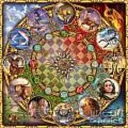 Zodiac Mandala Print by Ciro Marchetti